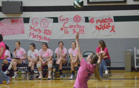 Volleyball team plays Barstow in annual Pink Night
