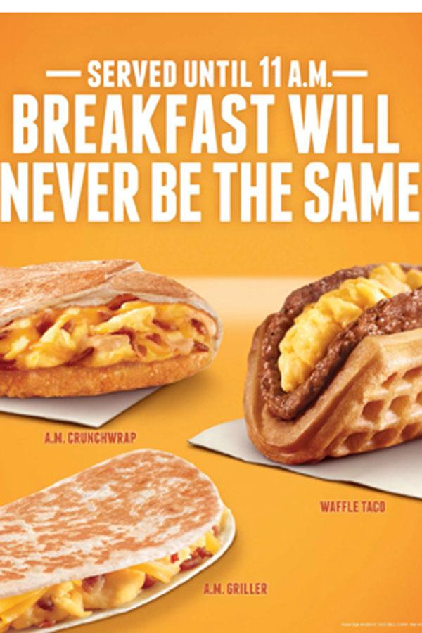 graphic regarding Taco Bell Printable Application called Taco Bell for breakfast: an complete gamechanger The Paw Print