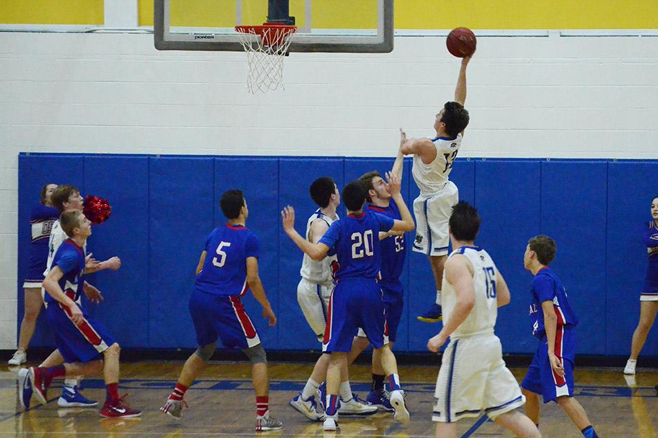 Junior Wyatt Palmer goes up for a layup.