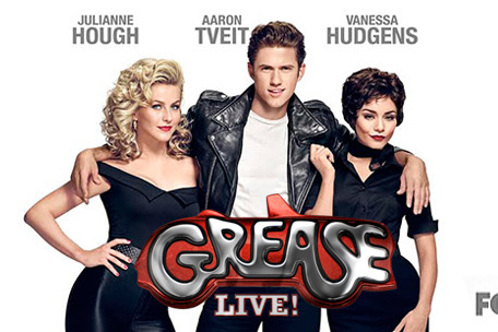 The promotional poster for Grease Live