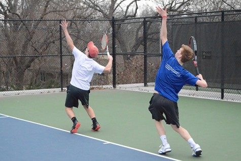 Boys' tennis at Topeka West