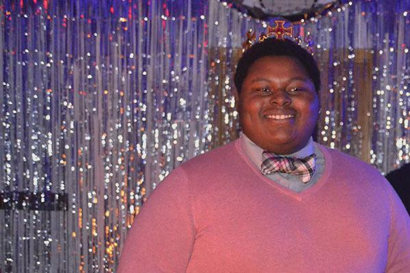 Senior Emmanuel Fleming wins Homecoming King.