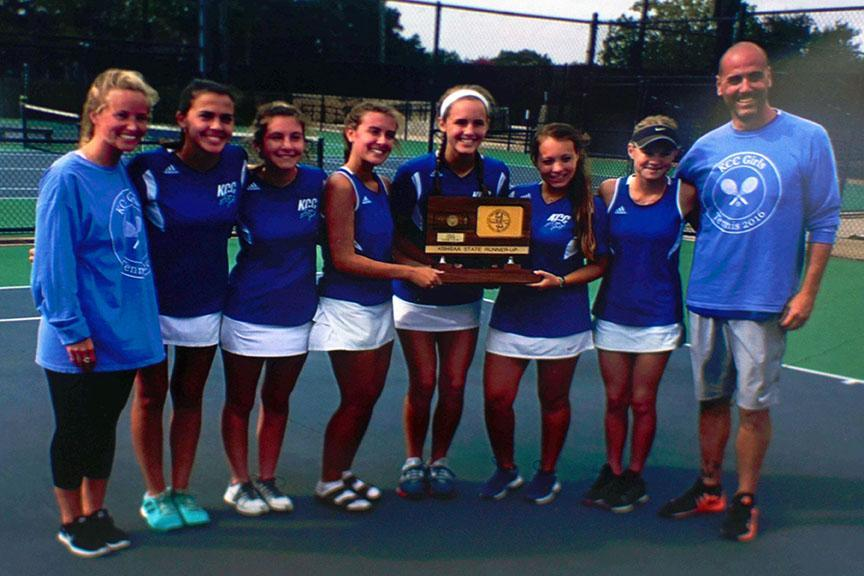 The+varsity+girls+tennis+team+has+never+won+State%2C+but+they+placed+2nd+in+2016.