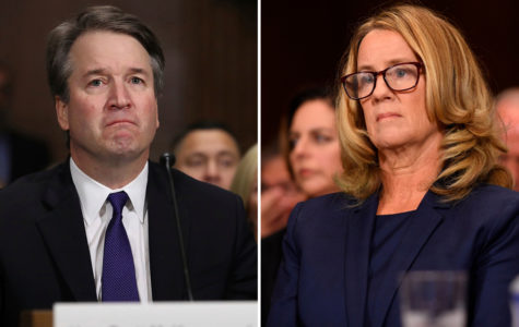 Right: Brett Kavanaugh. Left: Dr. Christine Blasey Ford.